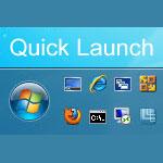 Как включить Панель быстрого запуска в Windows 7 и 8